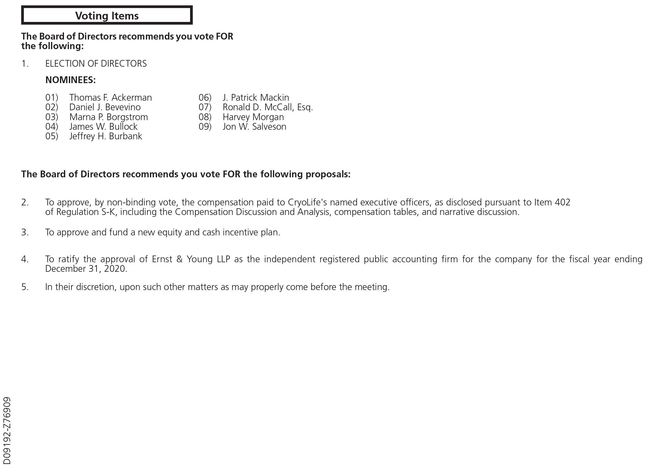 SEC Filing   Cryolife Inc.