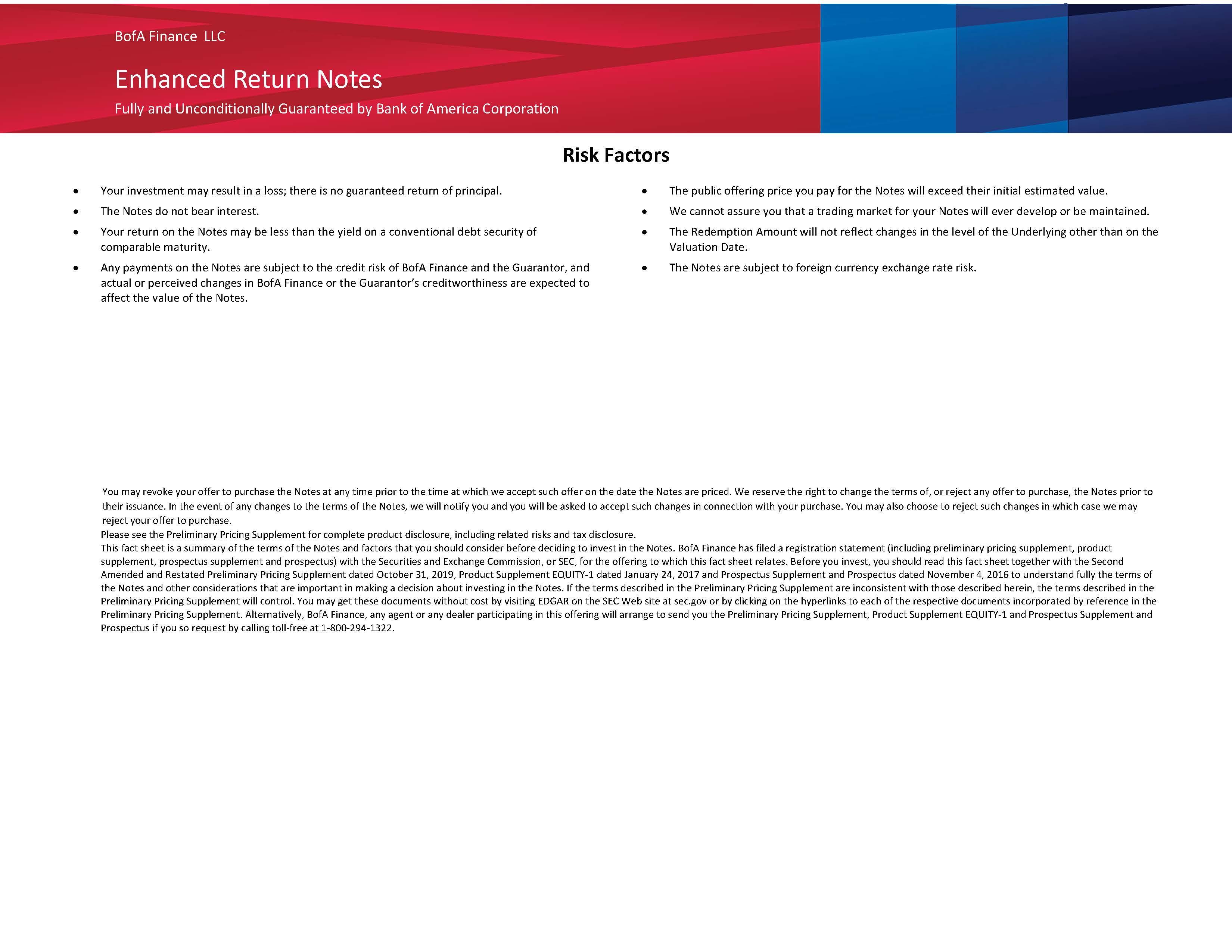 Bank Of America Corporation Investor